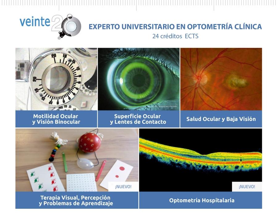 EXPERTO UNIVERSITARIO EN OPTOMETRÍA CLÍNICA (2017-2018)